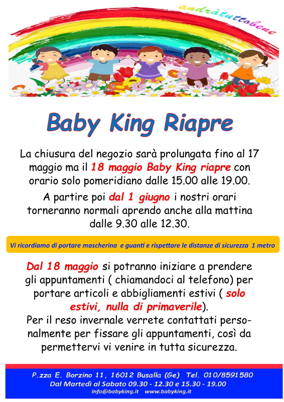 baby king riapre