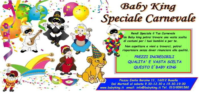 carnevale baby king 2020